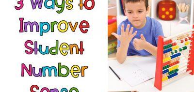 3 Ways to Improve Number Sense